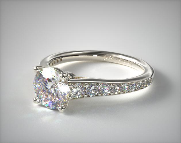 Inspired Diamond Engagement Ring Platinum James Allen