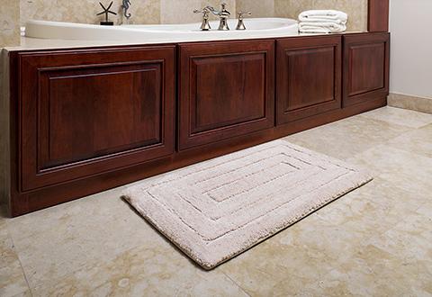 luxe memory foam bath rug @ sharper image