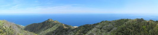 Panoramic view from the east end of Catalina