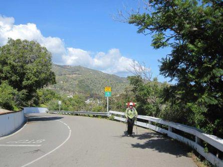 Road walking to the TCT trailhead