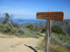 The top of the Hermit Gulch Trail