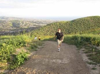 Hiking up Patriot Trail