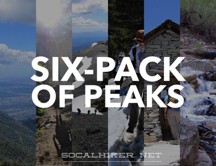 SoCalHiker Six-Pack of Peaks