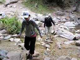 One of many stream crossings