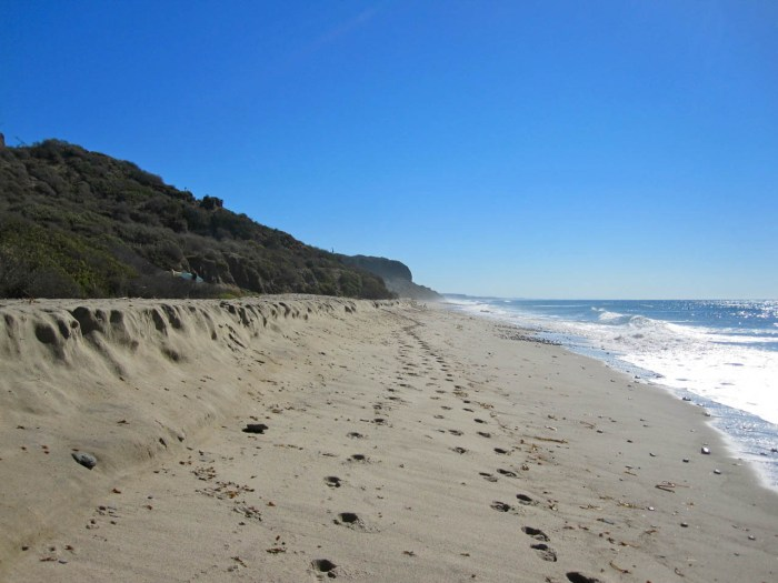 Footprints in the sand at San Onofre