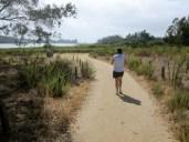 Heading back to the trailhead along the Batiquitos Lagoon