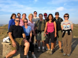 Hump Day Hikers at the flag pole