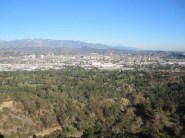 View of the San Gabriel mountains
