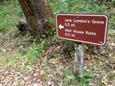 The Wolf House and the Jack London grave site