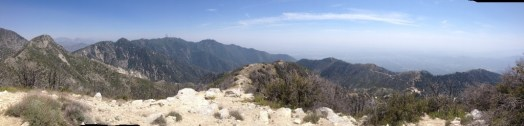 Panorama atop Mt Lowe