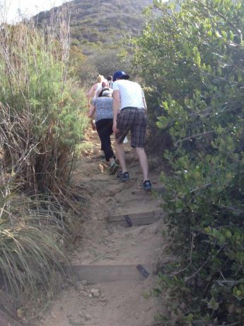 Steep climb up Burbank Peak