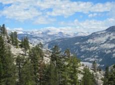 Snow on the distant mountains