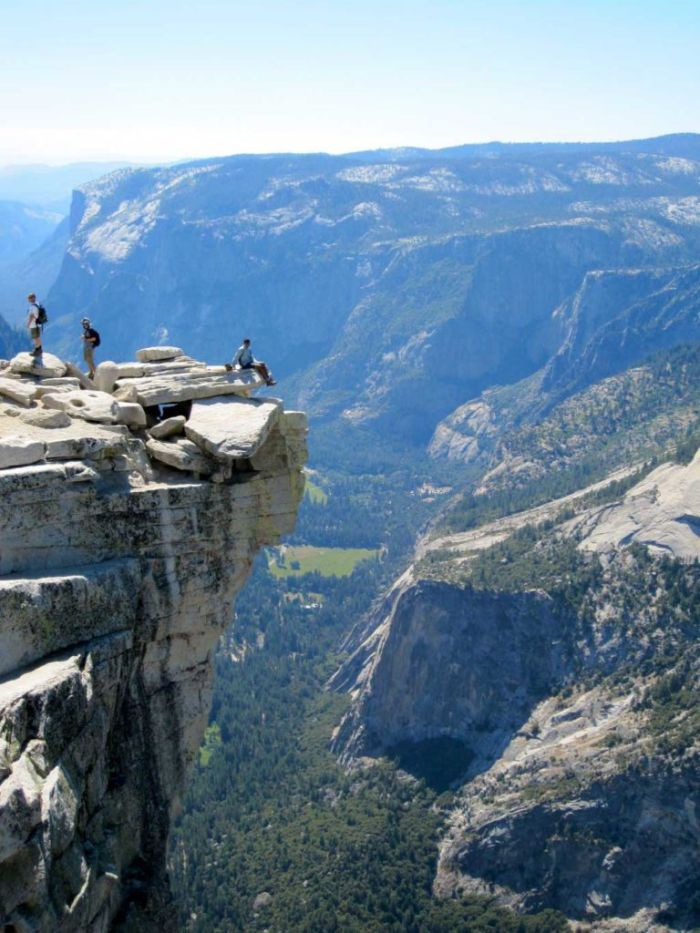 Hari on the Diving Board at Half Dome