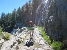 Joan on the JMT
