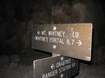 Whitney Trail Crest Junction, 3am