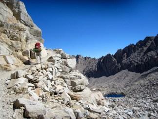 JMT Joan climbing Forester Pass