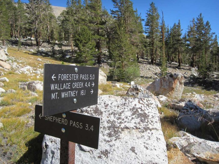 Trail Junction on the JMT