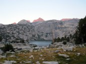 Twilight at Rae Lakes
