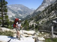 Joan on our way down Le Conte Canyon