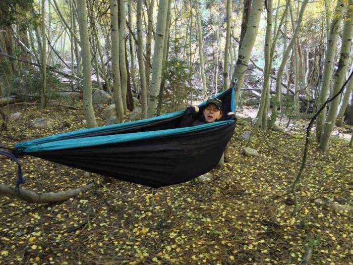 Kicking back in the hammock
