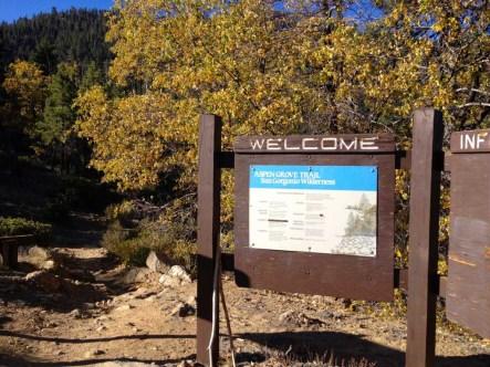 Aspen Grove Trailhead