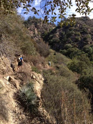 Heading up the Castle Canyon Trail