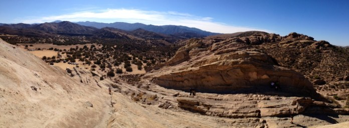 View from the top of Vasquez Rocks