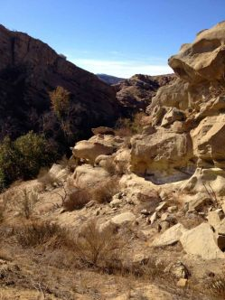 The lower canyon on the PCT