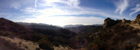 Southern Panorama Over Santa Ynez Canyon