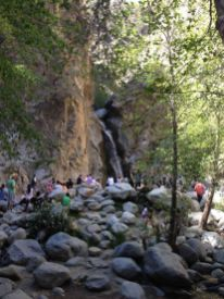 Eaton Canyon Falls draws a lot of wilderness tourists