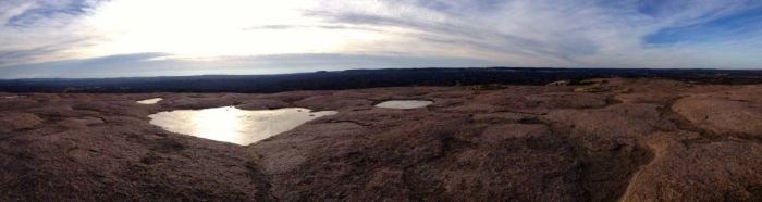 Panoramic view from the summit of Enchanted Rock