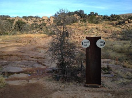 Enchanted Rock trail markers