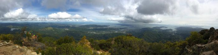 The view from Mt. Tamalpais