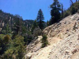 Climbing up the Burkhart Trail