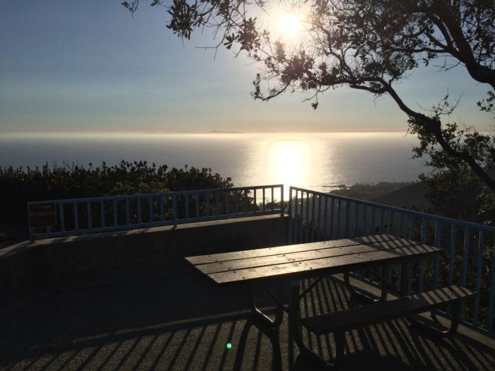 Awesome picnic table view