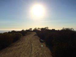 Trail along the ridge line