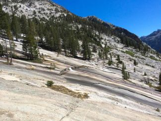 Water Running Down the Granite