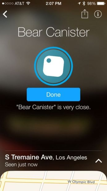 Finding my bear canister with Tile