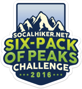2016 SoCal Hiker Six-Pack of Peaks