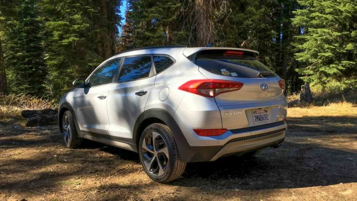 My 2016 Hyundai Tucson up in the Sierra Mountains