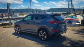 Hyundai Tucson at the Marina