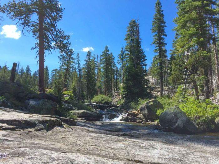 We took a break next to a scenic cascade on Illilouette Creek.
