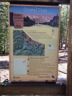 Crystal Crag trailhead information