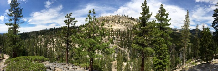 The View across the river from the top of the Devils Postpile