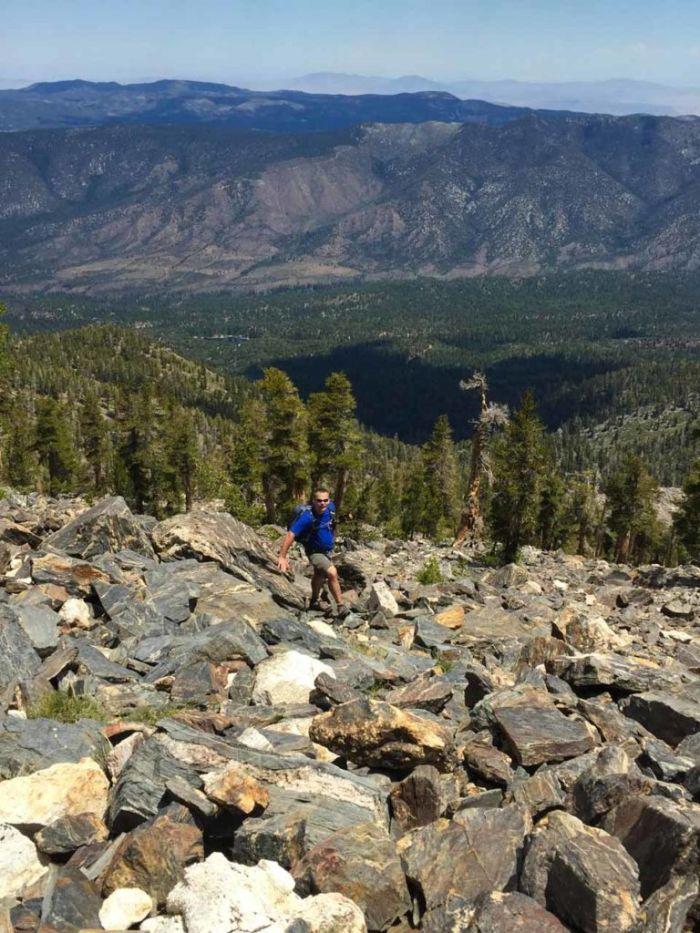 Dave on the Scramble up Shields Peak