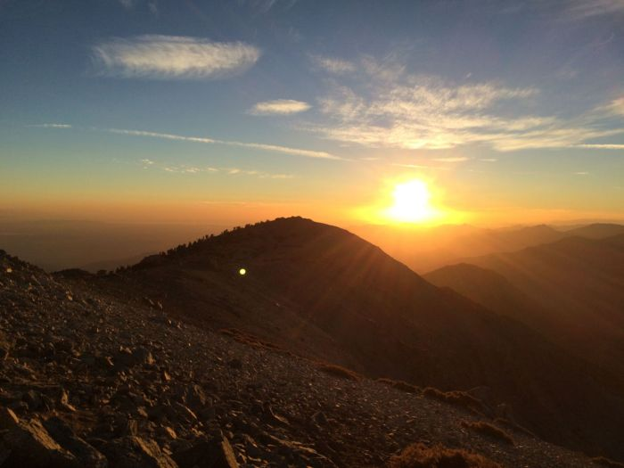 Full Moon hike up Mt Baldy