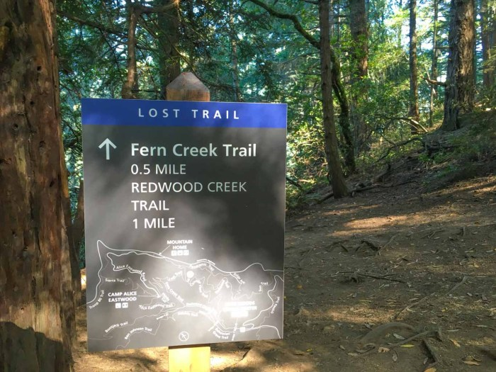 Also described as the Fern Canyon Trail on some maps.