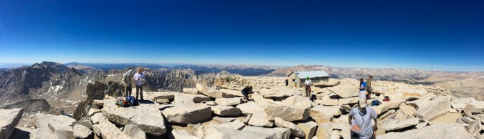 Western panorama from Mt Whitney
