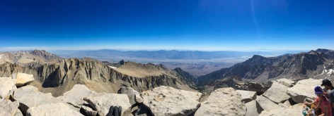 Eastern panorama from Mt Whitney