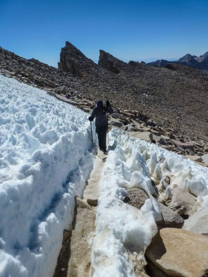 Snow in July? Yes, on Mt Whitney